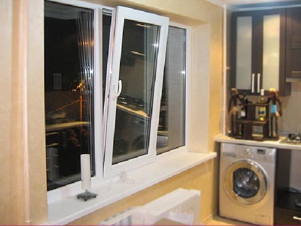 Пластиковые окна на кухне